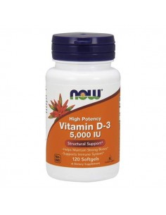 NOW FOODS Vitamin D-3 (5000 IU) 120 softgels